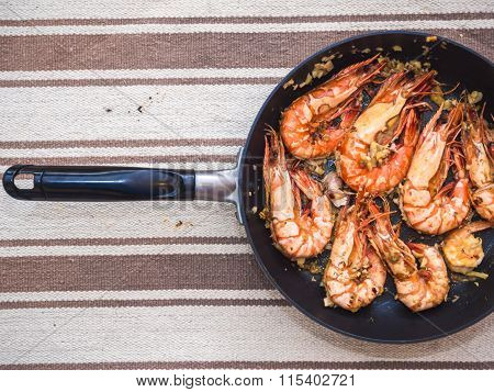 Delicious Sea Food Of Grilled Prawn