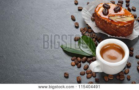 Fresh Espresso And Cake