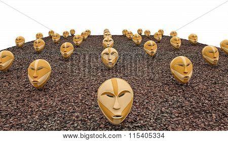Masks On Sawdust