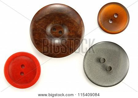 Buttons For Sewing On A White Background