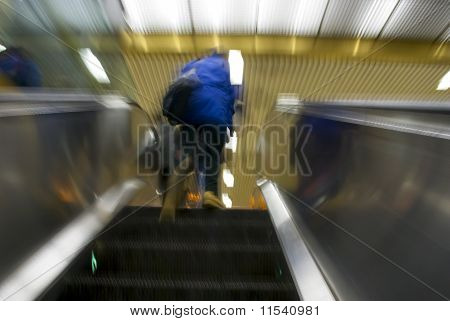 Escalator Blur