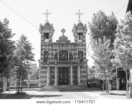 Black And White Church Of St Elizabeth
