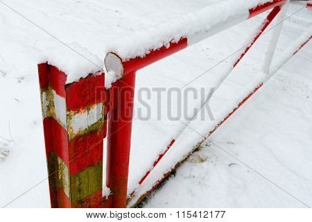 Barrier In The Snow