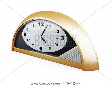 Table clock isolated on white background.