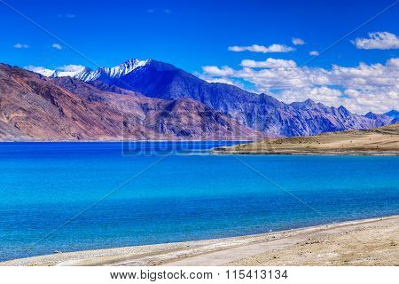 Mountains,pangong Tso (lake),leh Ladakh,jammu And Kashmir,india