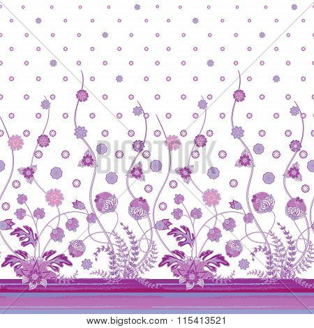 Vertical seamless patterns collection with floral texture for clothes, bedclothes, Bridal, Valentine's day, greeting cards or Birthday Invitations, fabric or paper print.