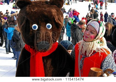 Gatchina, Leningrad Region, Russia - March 5, 2011: Maslenitsa - A Traditional Spring Holiday In Rus