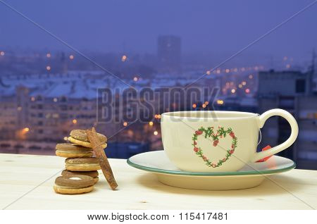 Evening Tea And Cookies