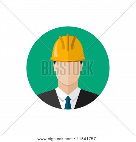Builder Architect In Helmet