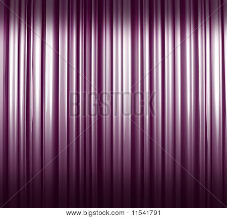 Violet-white Illuminated Curtain