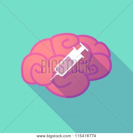 Long Shadow Brain With  A Syringe