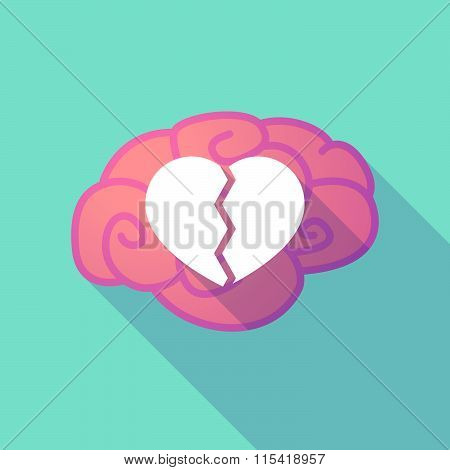 Long Shadow Brain With  A Broken Heart