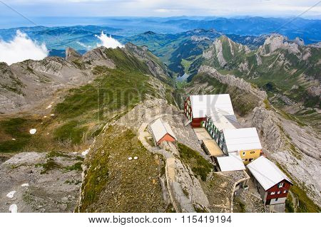 View From Top Of Mount Santis Switzerland