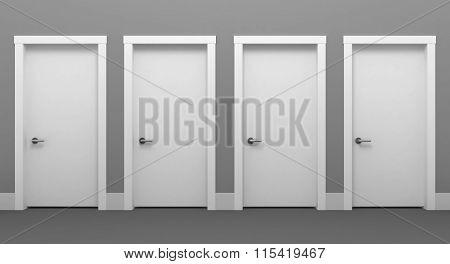 Four door white