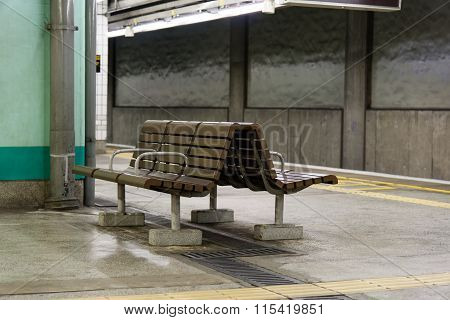 Bench In A Subway