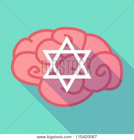 Long Shadow Brain With  A David Star