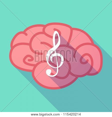 Long Shadow Brain With  A G Clef
