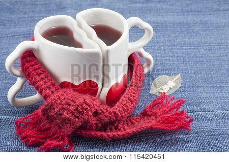 Heart Shaped Mug With Tea