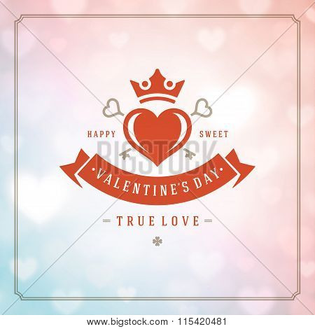 Valentines Day greeting card or poster vector illustration