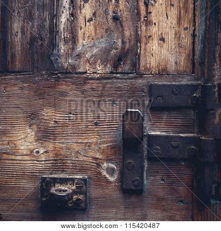 Brown Wood Old Door .
