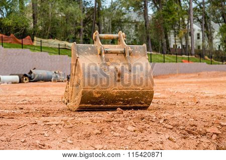 Earth Moving Bucket On Site