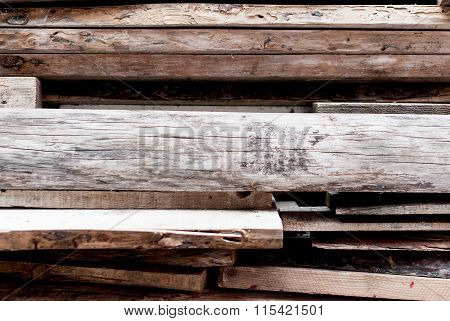 Boards. Warehouse Of Saw-timbers