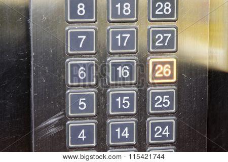 26 (twenty Six) Floor Elevator Button With Light