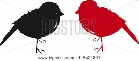 two sparrows (icon,logo,vector)