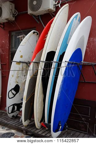 Standing Surfing Boards