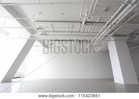 The New Bright Empty Building Interior