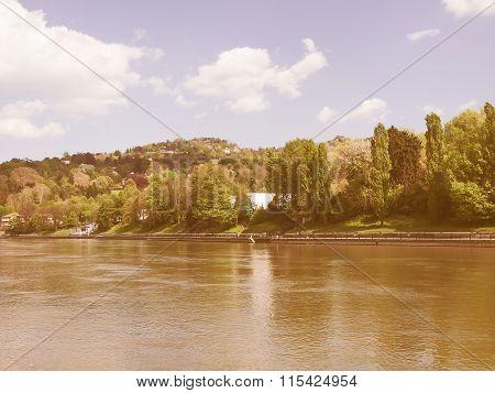 River Po Turin Vintage