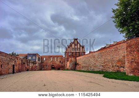 Medieval fortifications in the city of Torun