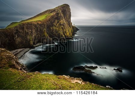 Sunset at Neist point lighthouse, Scotland