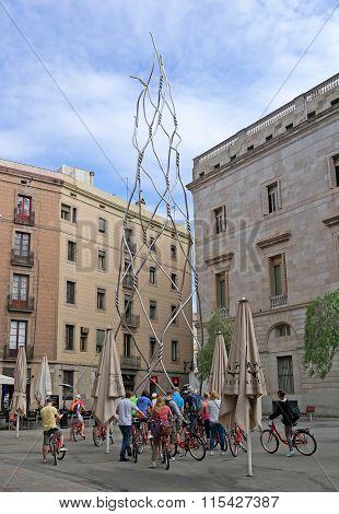 Barcelona, Spain - May 17, 2014: Homenatge Als Castellers