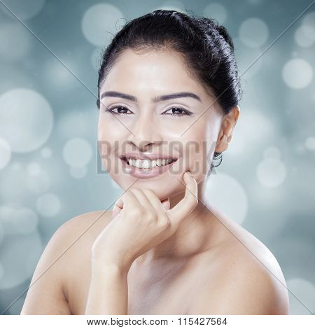 Beauty Woman After Skincare