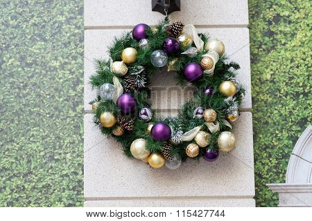 Christmas Decoration Hanging On A Wall