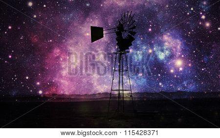 Windmill Water Pump Impression