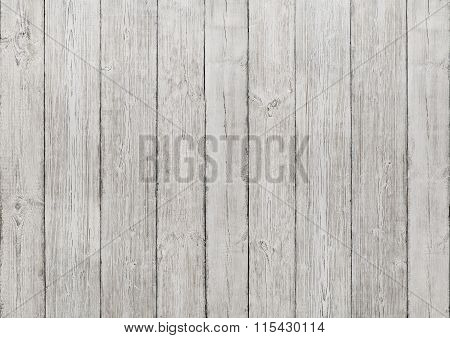 White Wood Planks Background, Wooden Texture, Floor Or Wall Textured