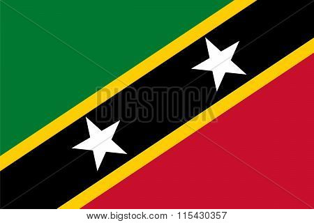 Standard Proportions For Saint Kitts And Nevis Flag