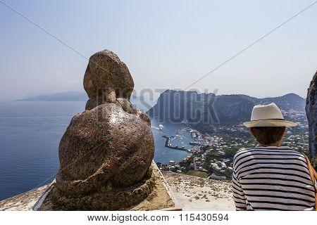 Capri Island, from anacapri Italy