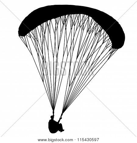 Para glider. Useful Black Vector element.