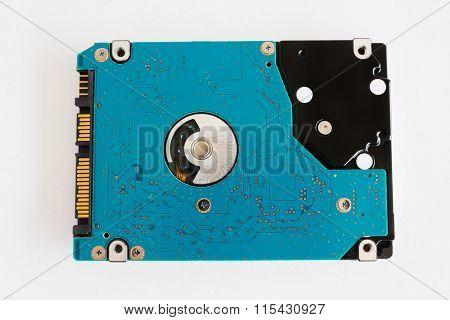 Computer Harddisk Drive On White Background