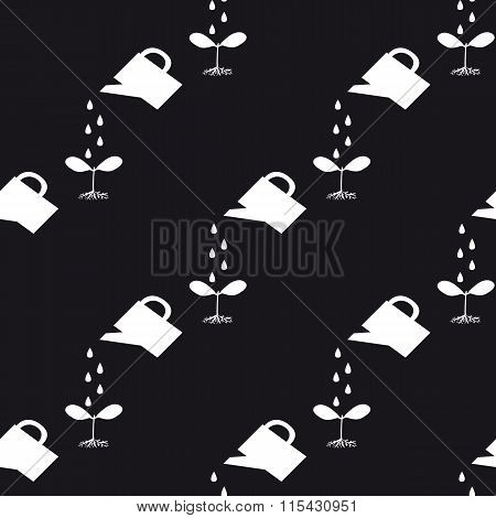 Watering Can To Water The Plants, Seamless Pattern
