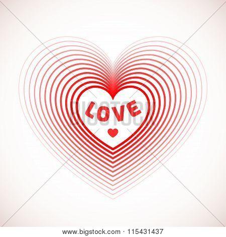 Love heart symbol for card design.