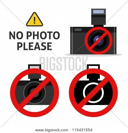 No photo camera sign.