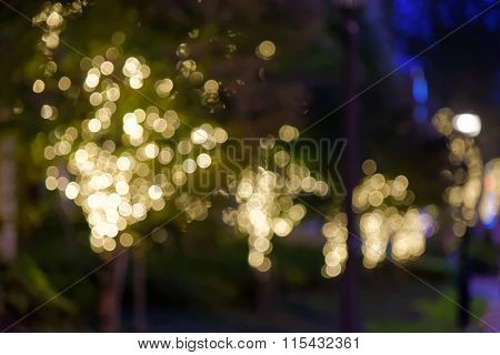 Unfocused Photo Of Lights On Trees