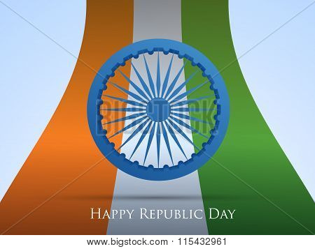 Smooth waves background. Colors of India. Republic Day 26 January vector design  Save Download Prev