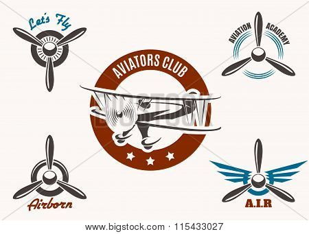 Aviation Emblem Set