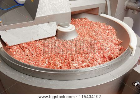 Minced Meat In Big Factory Bowl