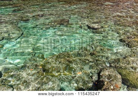 Clear Transparent Water With Rocks